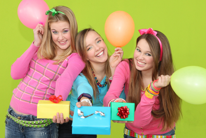 Teenagers with gifts