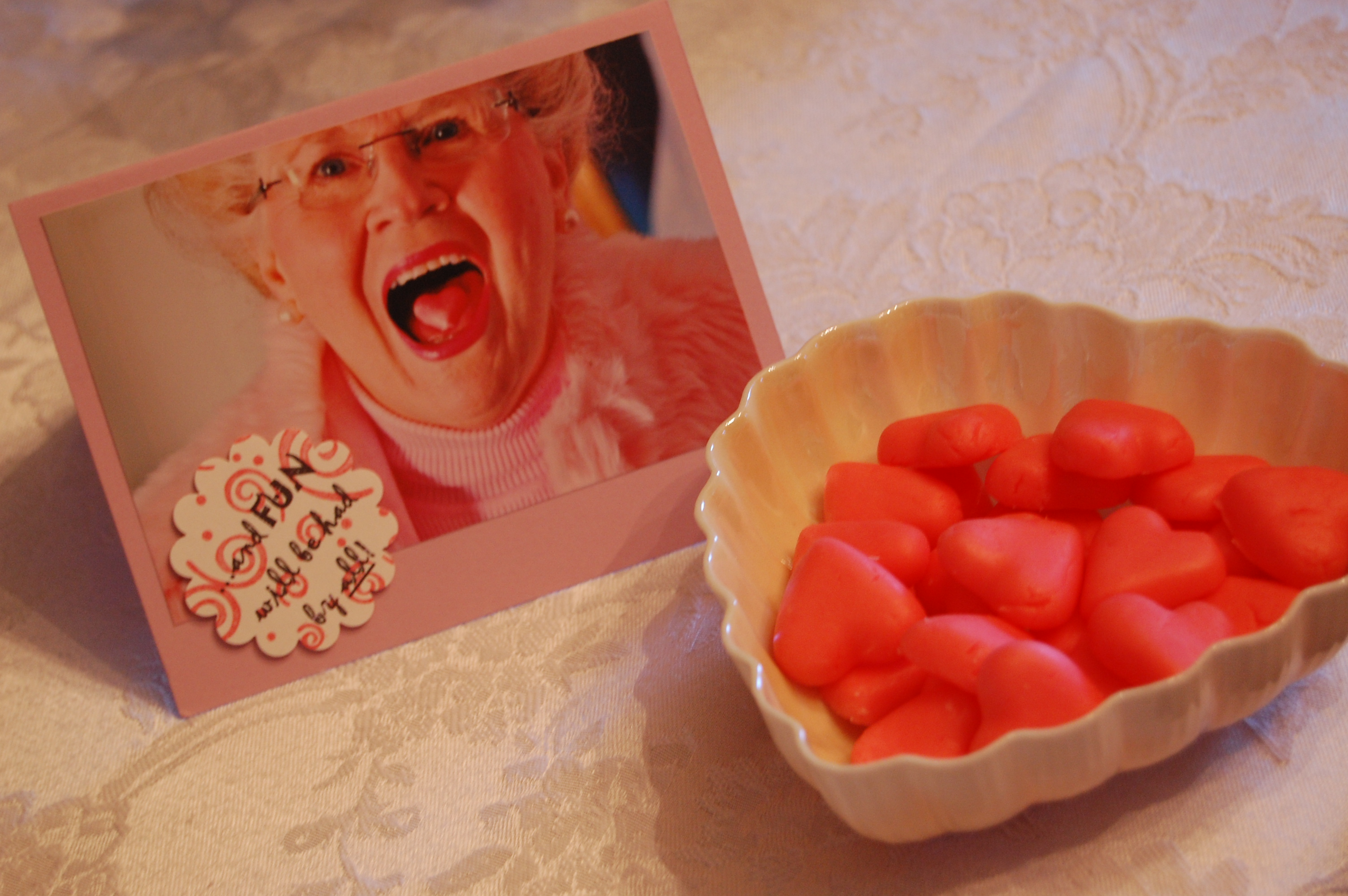 Valentine Tea Party invitation and mints