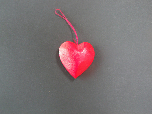 heart on string