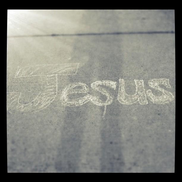 Jesus chalk
