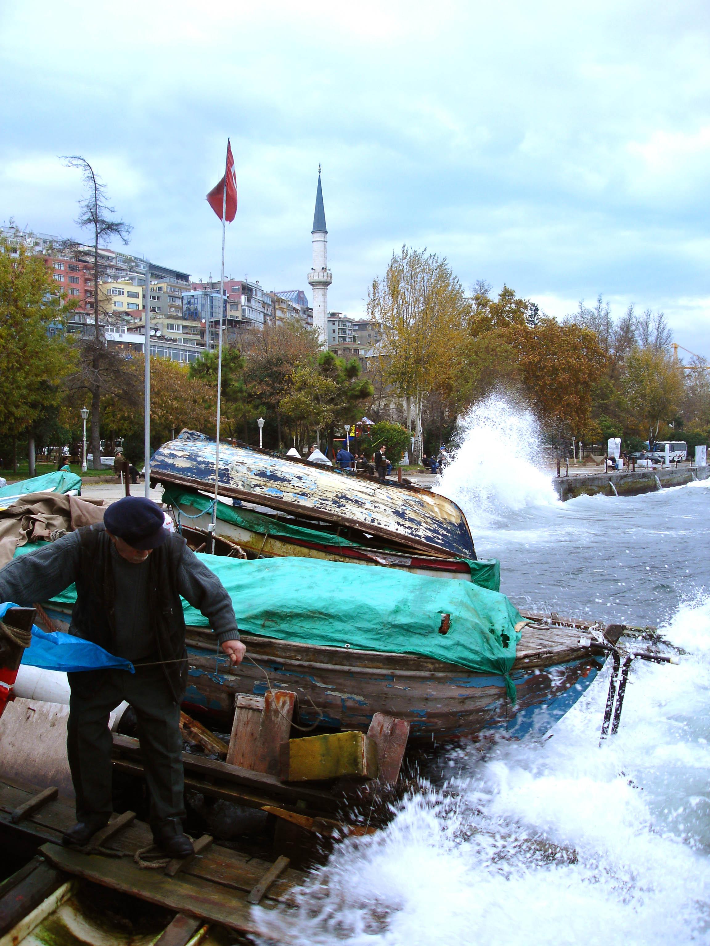 boat in storm - tuonela