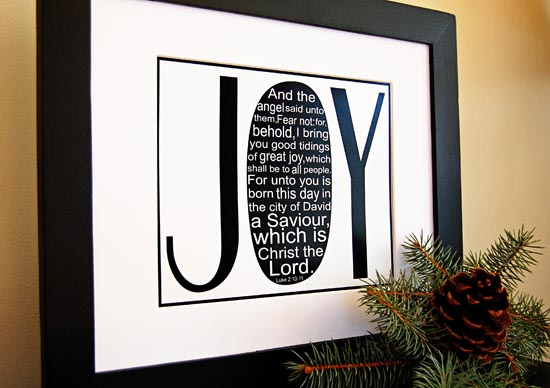 Joy print framed from StudioJRU