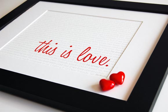 This is Love framed from StudioJRU