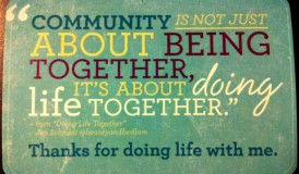 Doing Life Together from @beautyandbedlam