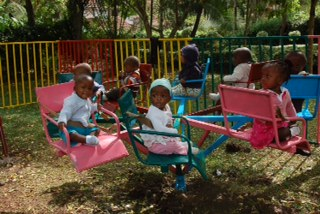 Mercy House Kenya toddler play area
