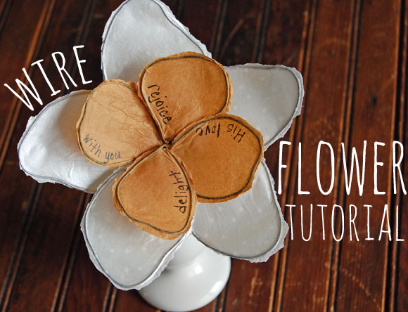 Wire Flower Tutorial from StudioJRU