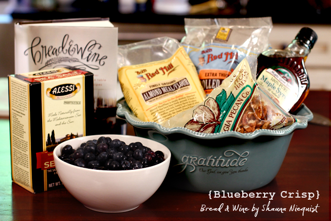 Blueberry Crisp yummy recipe from Bread & Wine