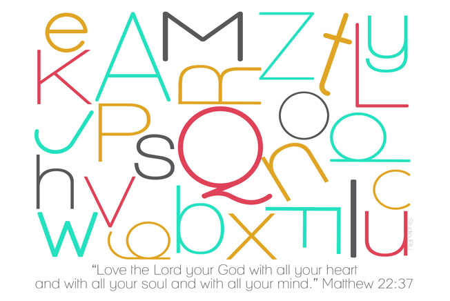 Love the Lord your God print