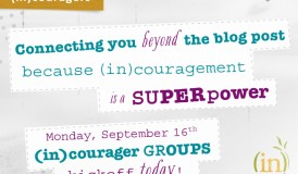 2014 (in)couragers Fall Session - Kicking off today! September 23rd through November 15th