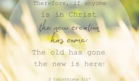 Sunday Scripture - The old has gone, the new is here! 2 Cor 5:17 NIV