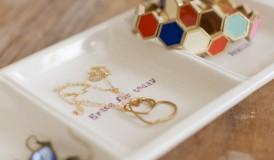 Use the Daily Grace Serving Dish as a Jewelry Tray