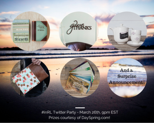 #inRL Twitter Party - March 26th - incourage.me