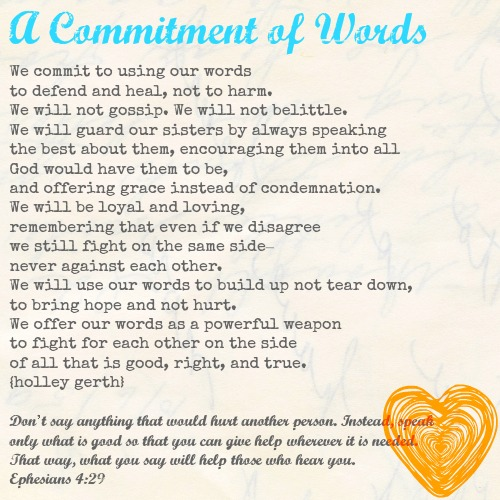 Commitment of Words