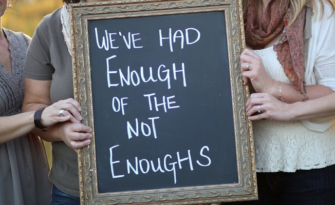 "We've Had Enough of the Not-Enoughs at Incourage.Me We can be 25 or 45 or 75 years old—still telling false narratives to ourselves about ourselves. We see the flaws. We count up the ways we're ""not enough."""