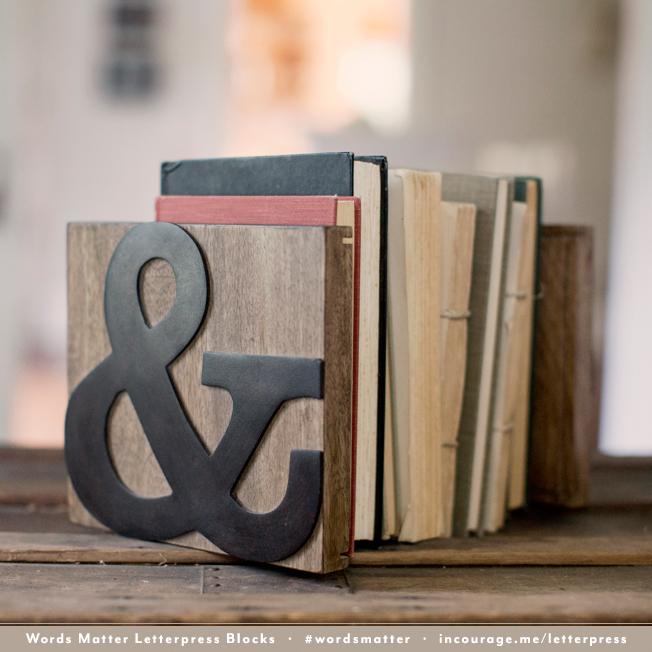 #wordsmatter Letterpress Blocks