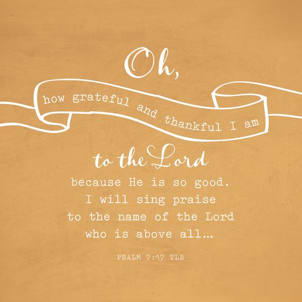 grateful and thankful