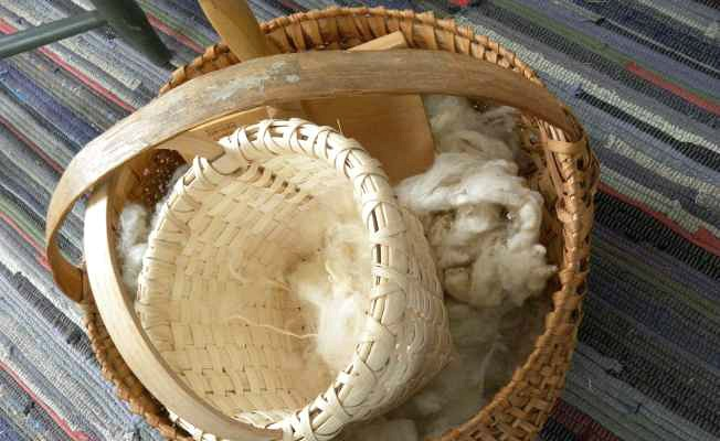Wool and Handwoven Baskets