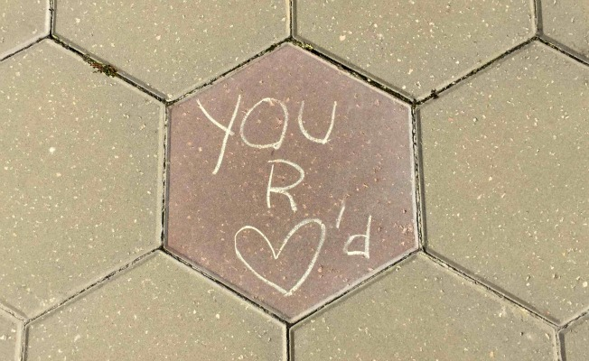 You R Loved Sidewalk Art