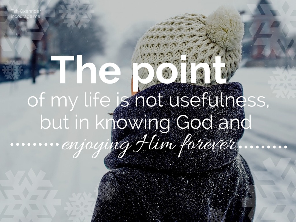 The point of